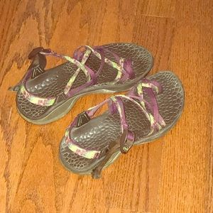 Purple and Green Tie Dye Chacos! Zx2